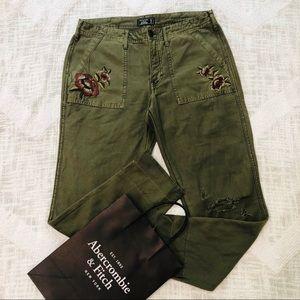 Abercrombie & Fitch Boyfriend Fit Cropped Pants 6